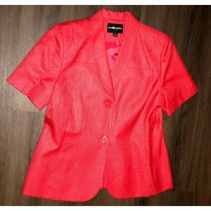 Sag Harbor Short Sleeve Salmon Pink Two Button